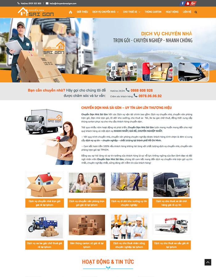 Thiết kế website vận chuyển kho bãi