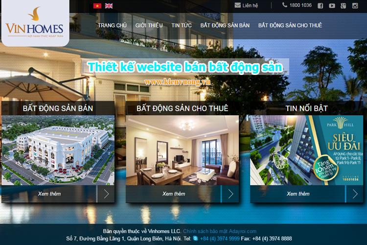 Công ty thiết kế website bán bất động sản chuyên nghiệp
