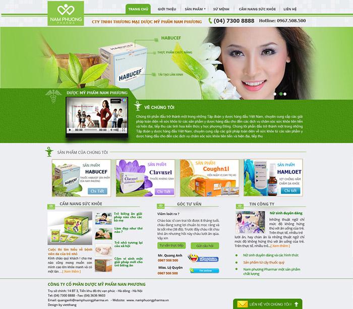 Thiết kế web dược phẩm, bán thuốc