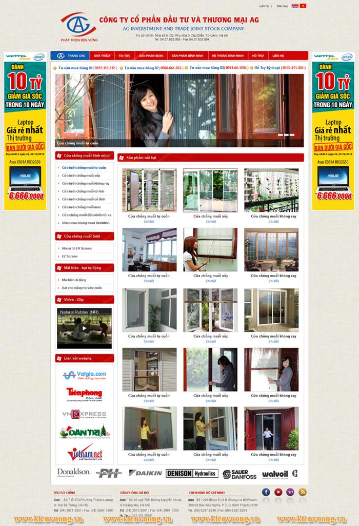 Thiết kế web cửa cuốn, nhôm kính, sắt mỹ thuật