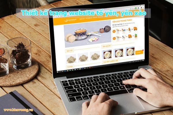 Thiết kế trang website tổ yến, yến xào