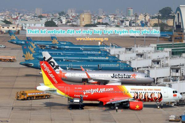 Thiết kế website đặt vé máy bay trực tuyến theo yêu cầu