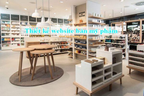 Thiết kế website bán mỹ phẩm