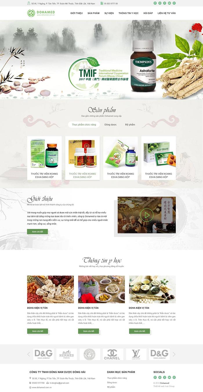 Thiết kế web bán dung dịch rửa tay sát khuẩn y tế