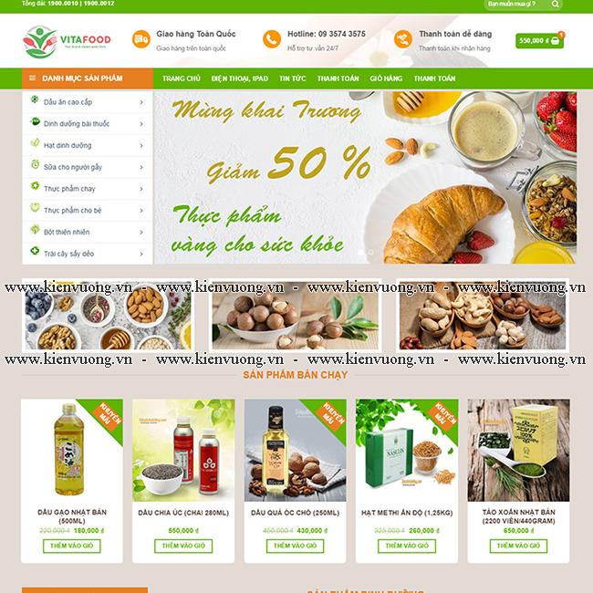 Thiết kế website bán hạt điều