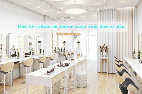 Thiết kế website cho thuê áo cưới, trang điểm cô dâu