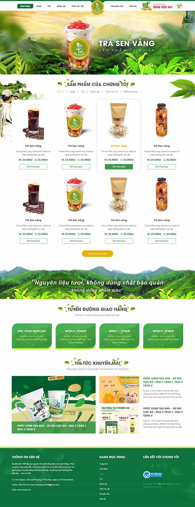 Công ty thiết kế website kinh doanh nước giải khát đẹp