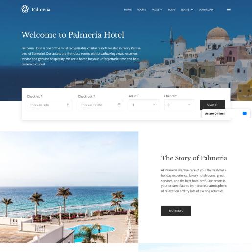Palmeria – Một theme Worpdress bất động sản miễn phí theo phong cách Châu Âu