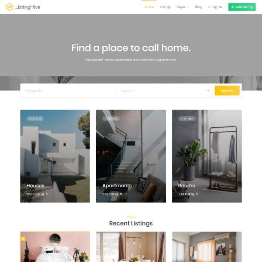 ListingHive – Theme bất động sản WordPress cho nhiều dự án