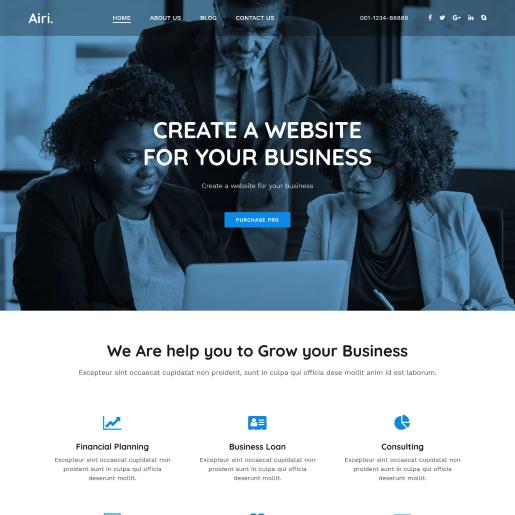 Airi – Theme WordPress giới thiệu doanh nghiệp bất động sản