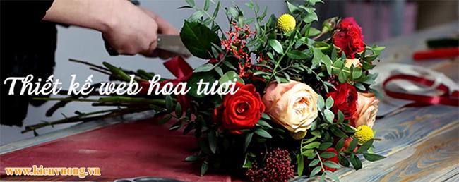 Thiết kế web cửa hàng hoa tươi