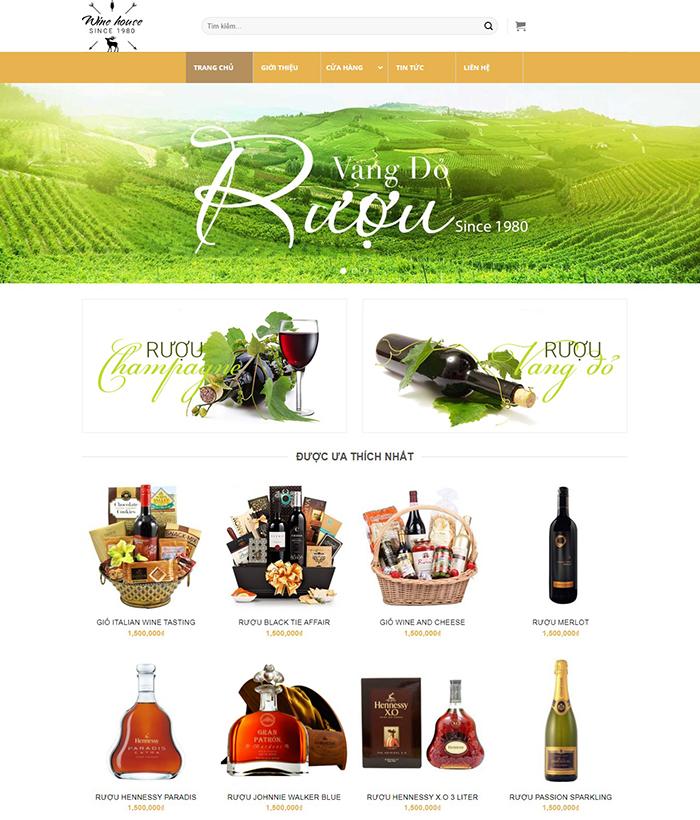 Thiết kế website bán rượu vang