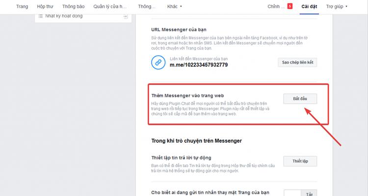 Tích hợp chat Facebook vào website