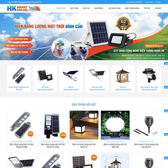 Theme wordpress bán đèn năng lượng mặt trời