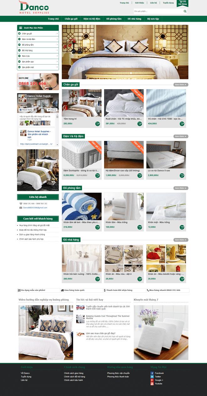 Thiết kế website bán nệm cao cấp chuẩn SEO