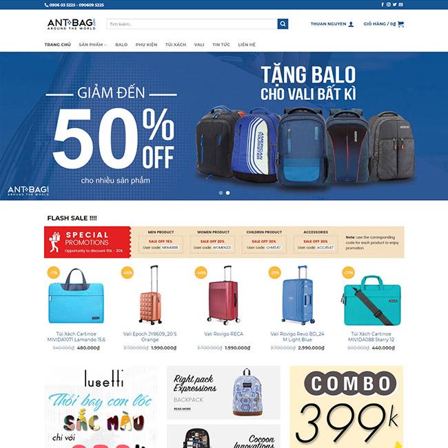 Nhữngmẫu thiết kế website bán hàng online đẹp