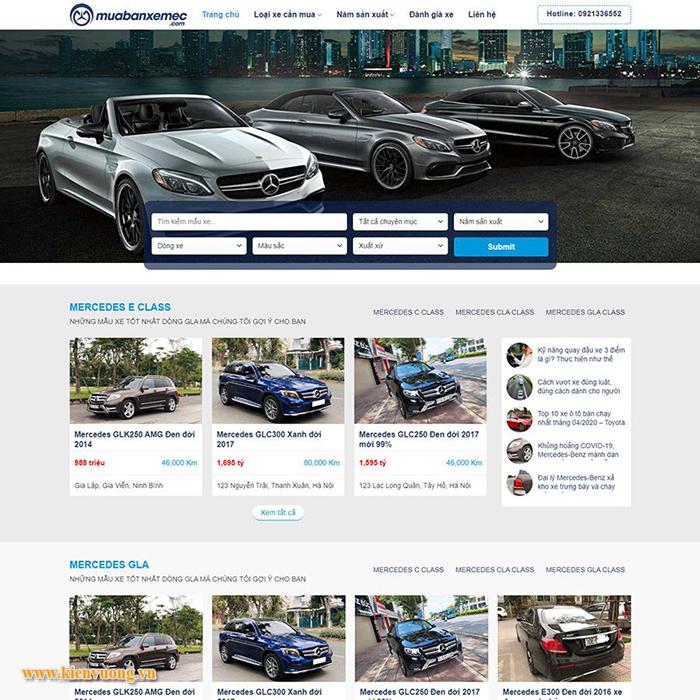 Mẫu website bán ô tô đẹp