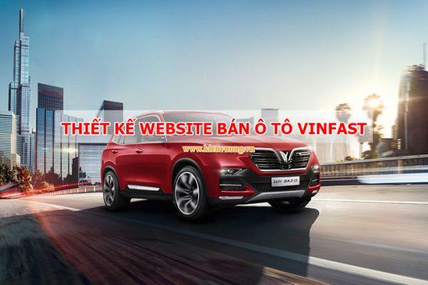 Thiết kế website bán ô tô Vinfast