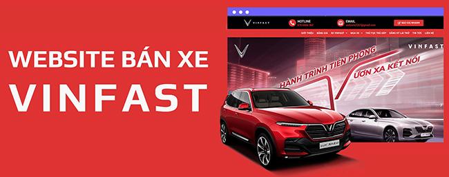 Thiết kế website bán xe Vinfast